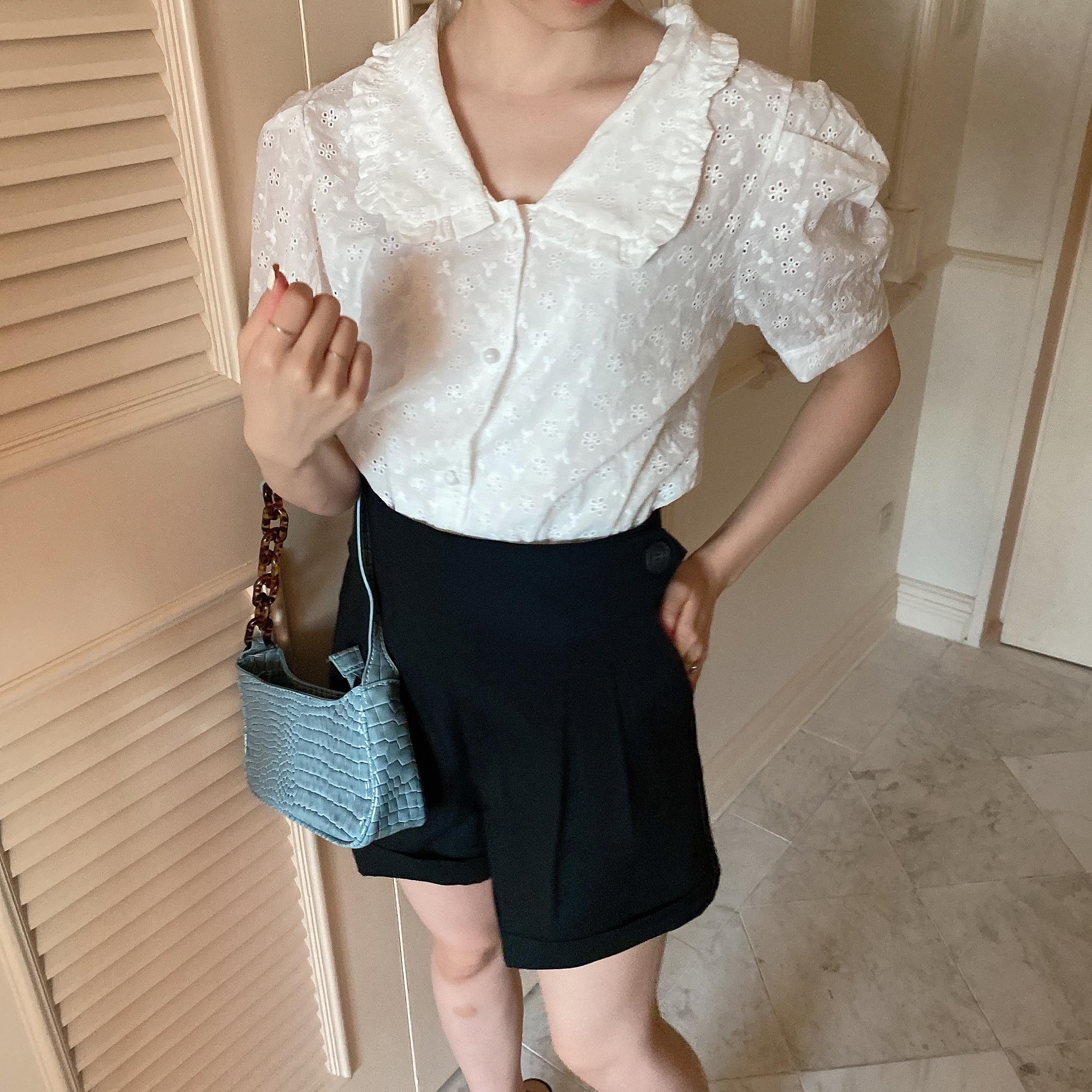 【LAST1】cotton girly shirt