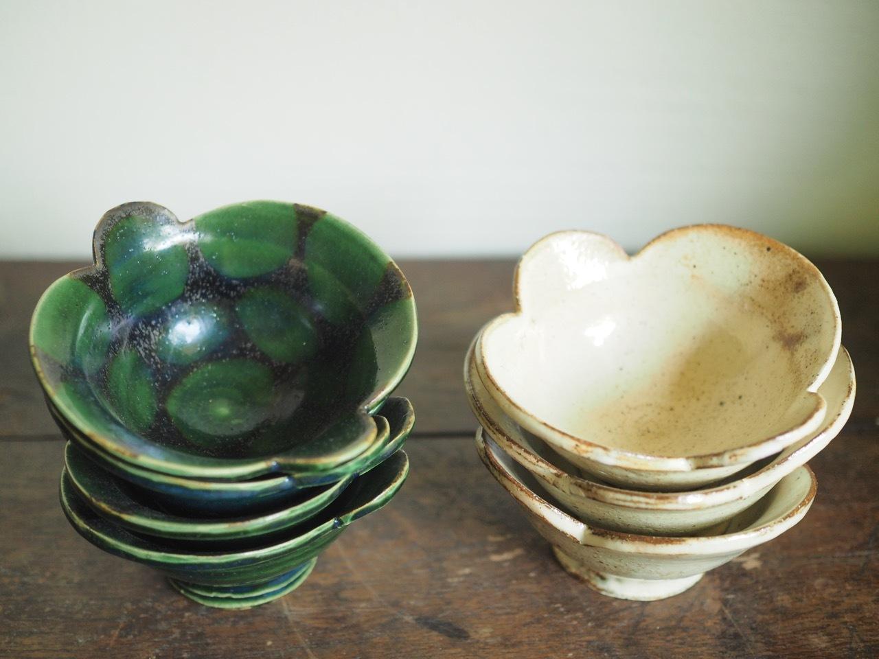 小鉢g 緑釉or白化粧