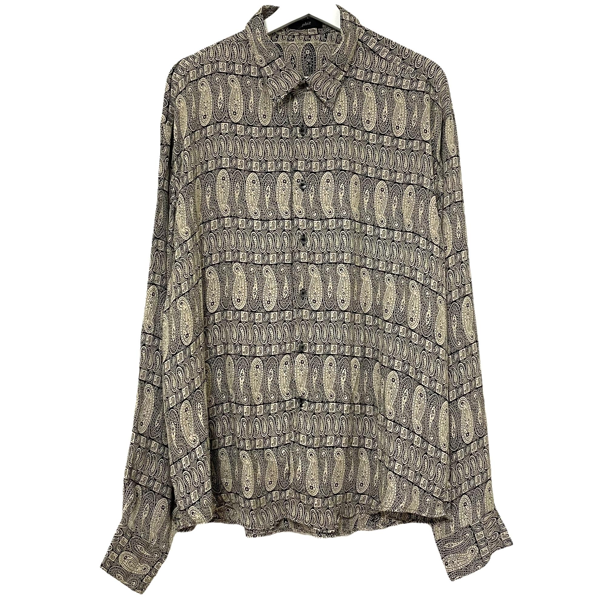 Dead Stock 90's phiz Jacquard Rayon Shirt【4】