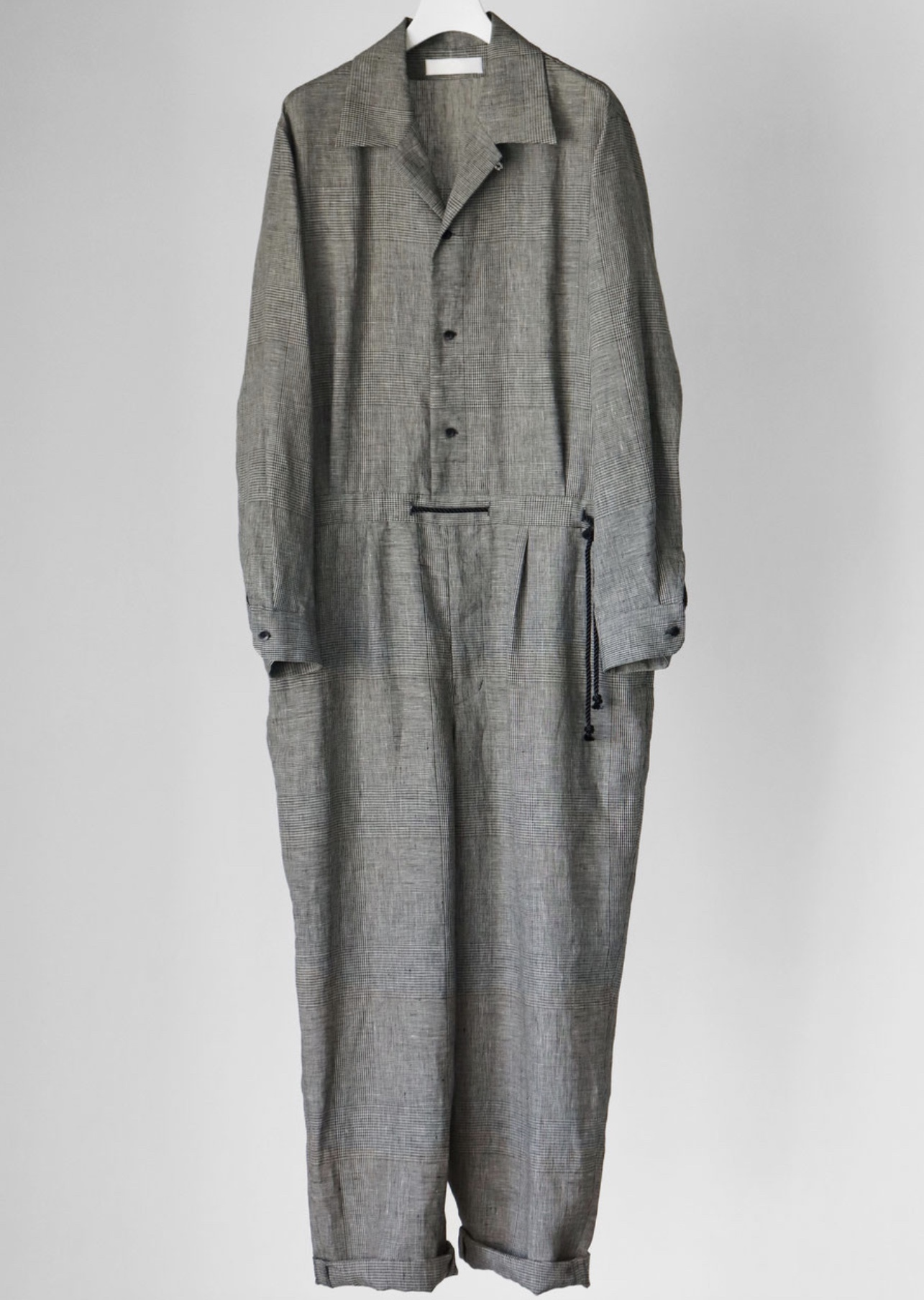 【ETHOSENS】Checkered jumpsuit A