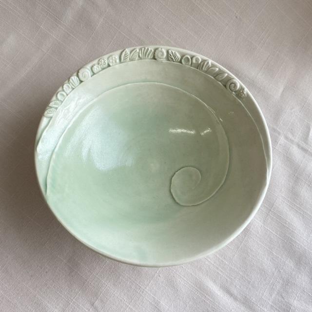 芽吹き模様の鉢(ペパーミント)/ボウル/麺鉢・丼もの