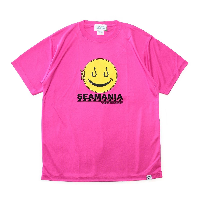 【Seamania】スマイルデザインdryTシャツ [PNK]