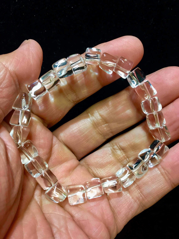 3) 山梨「乙女鉱山産」水晶ブレスレット