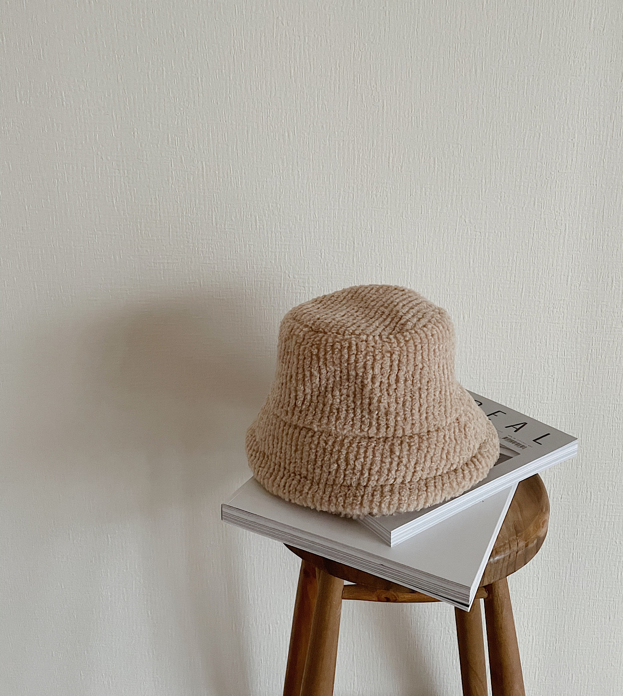 【beige】bucket hat