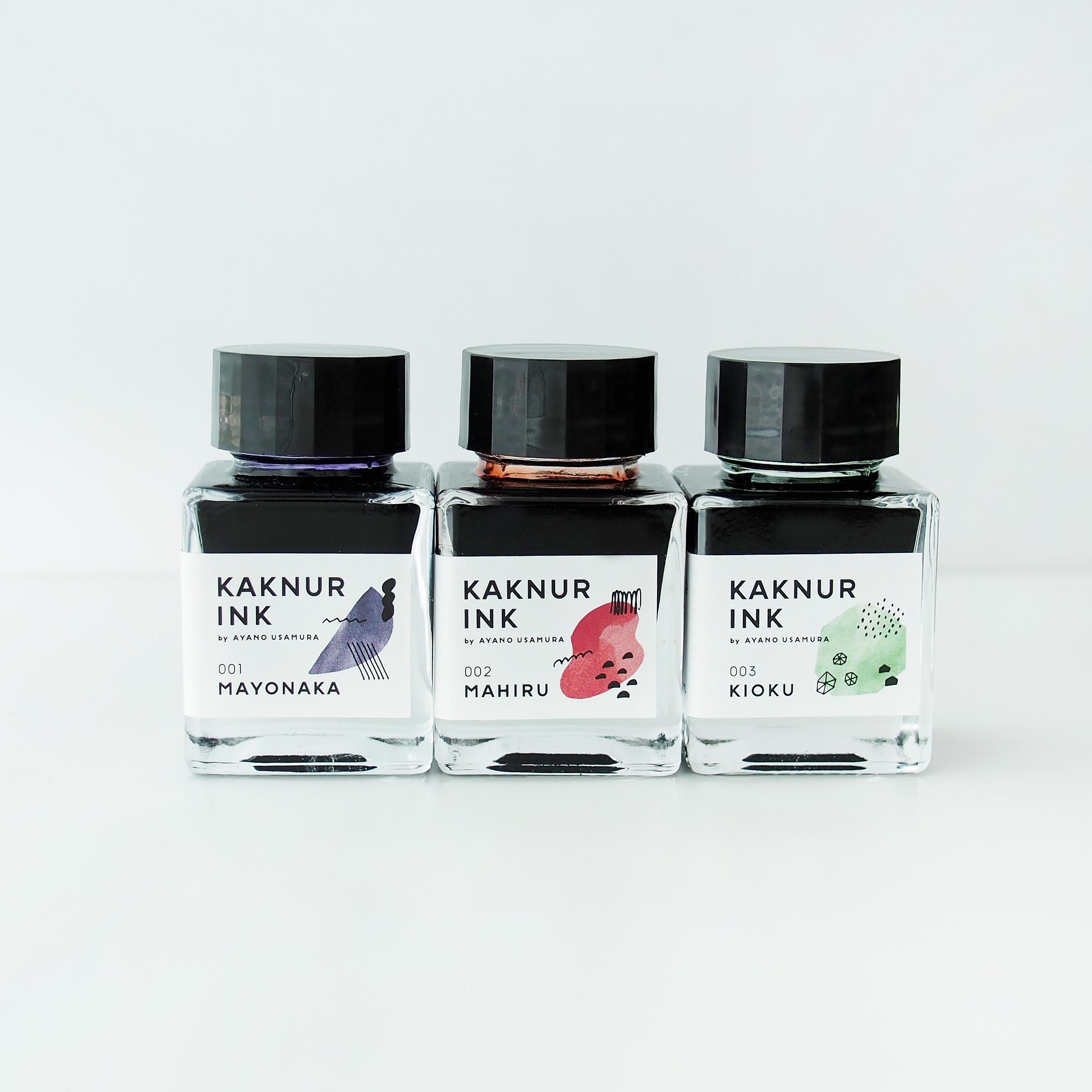 [ 販売終了 ]  KAKNUR INK|文具付きスペシャル3本セット
