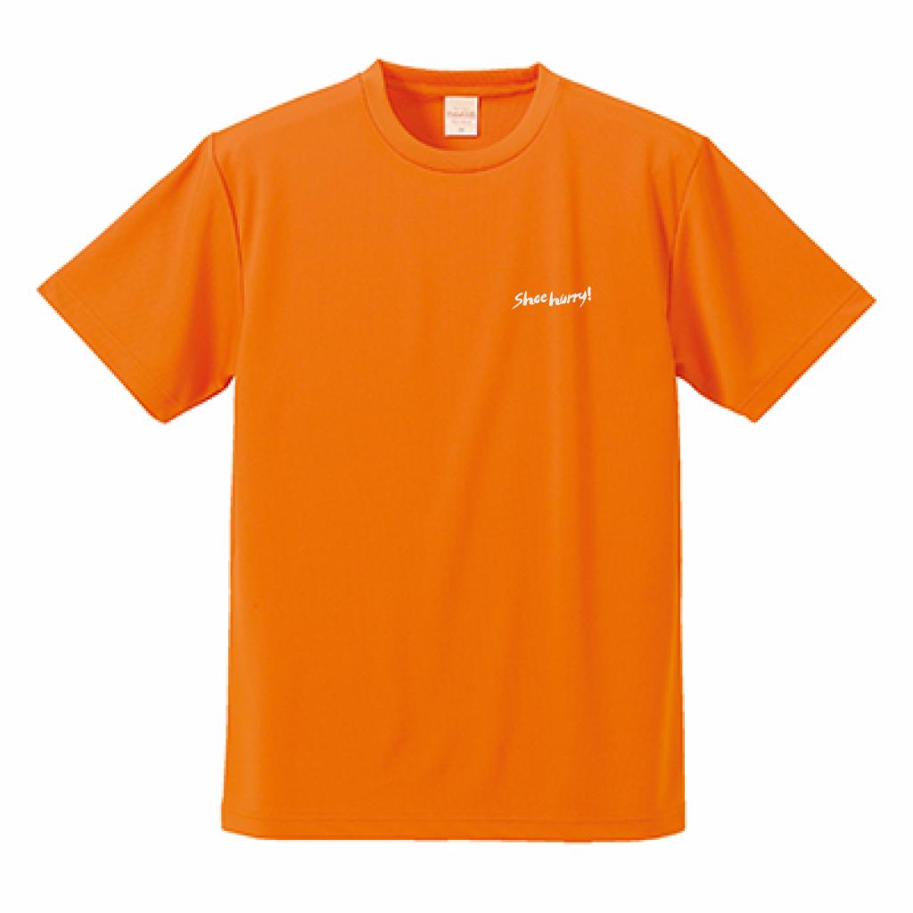 #SHOEHURRY 3KEYWORDS DRY T-SHIRTS|ドライTシャツ(オレンジ/ホワイト)