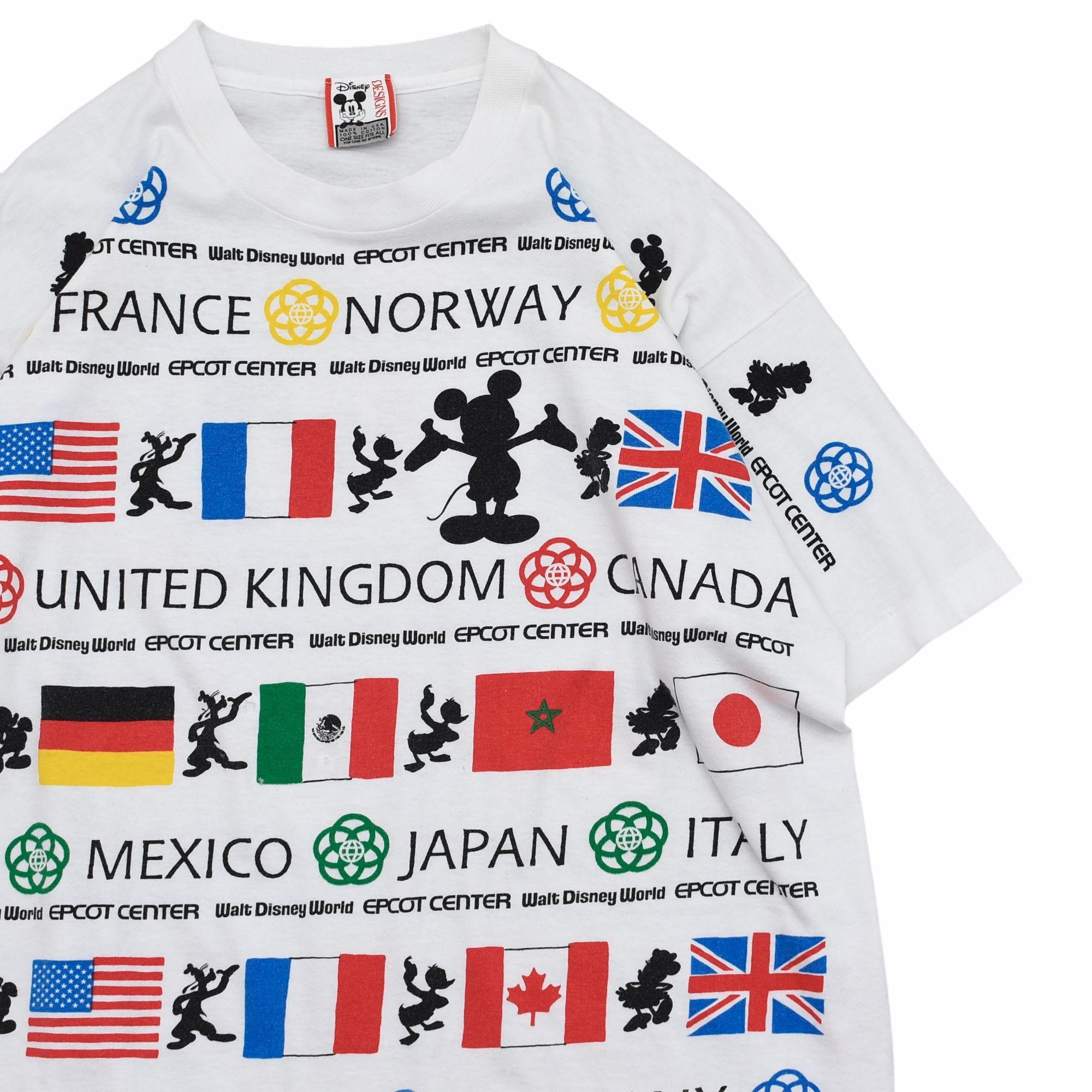 90's Disney DESIGN full pattern T-shirt Made in USA
