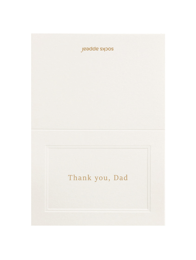 MESSAGE CARD【Thank you, Dad】
