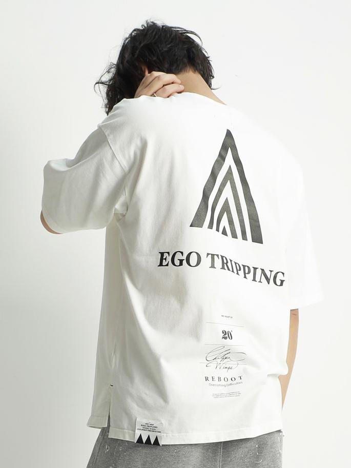 EGO TRIPPING (エゴトリッピング) A.D. TEE アドバンスアンドベーシックTシャツ / WHITE 663712-00