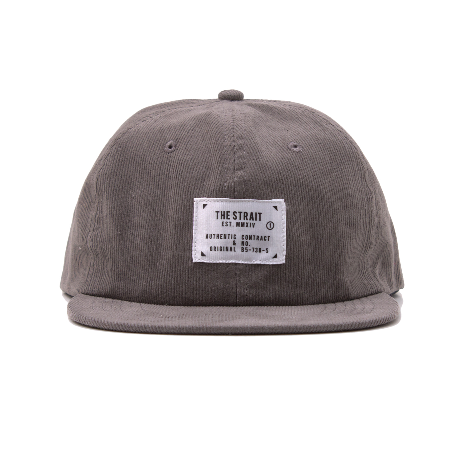 CORDUROY 6PANEL TAG CAP #BLACK