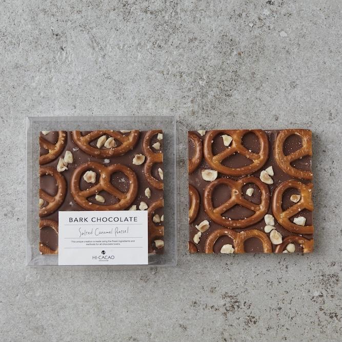 【HI-CACAO】バークチョコレート - ソルトキャラメルプレッツェル - 【チョコレート】【ハイカカオ】【おうちホワイトデー】【ホワイトデー】【ご褒美チョコ】