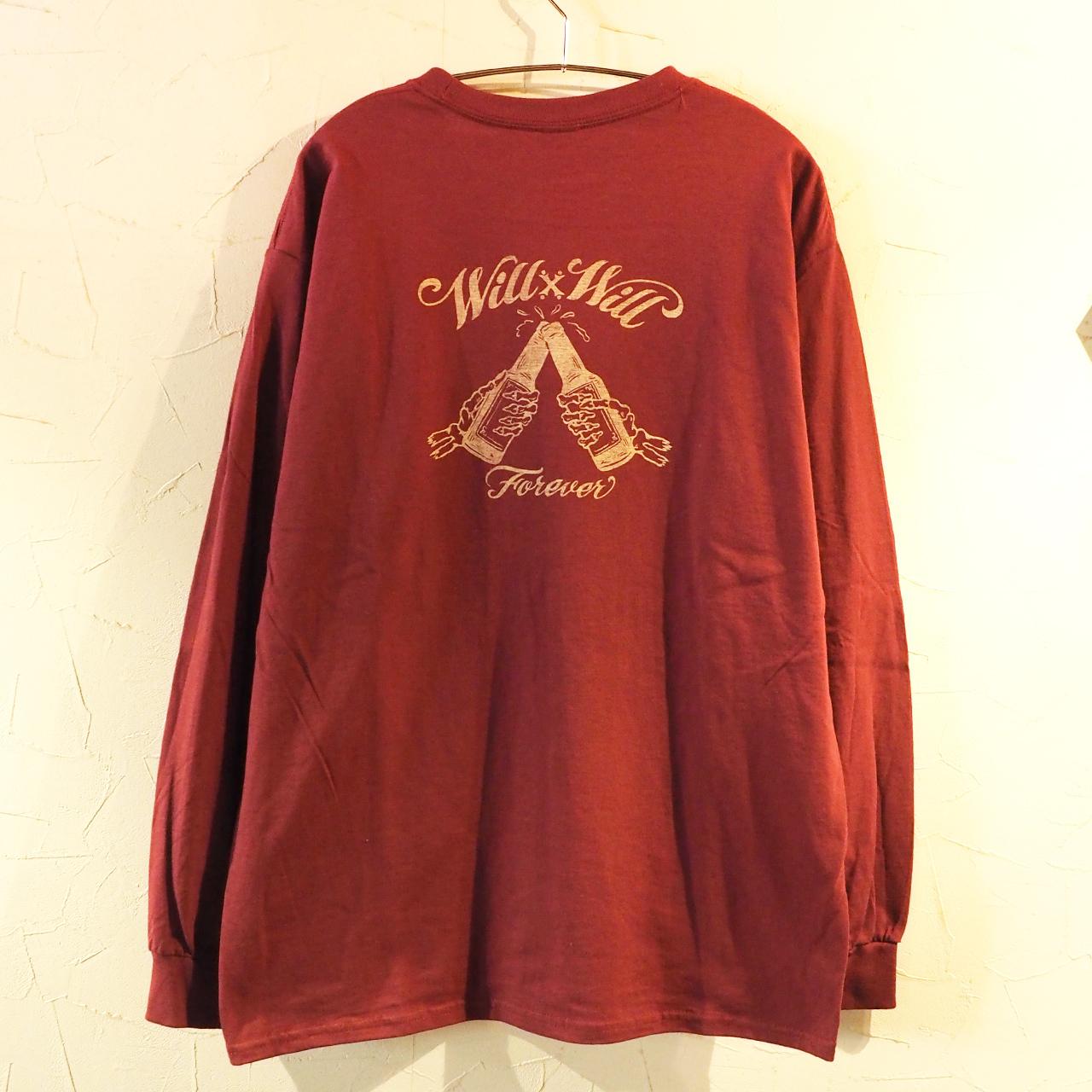 【一点物】 Forever Long T-shirts Burgundy Lサイズ
