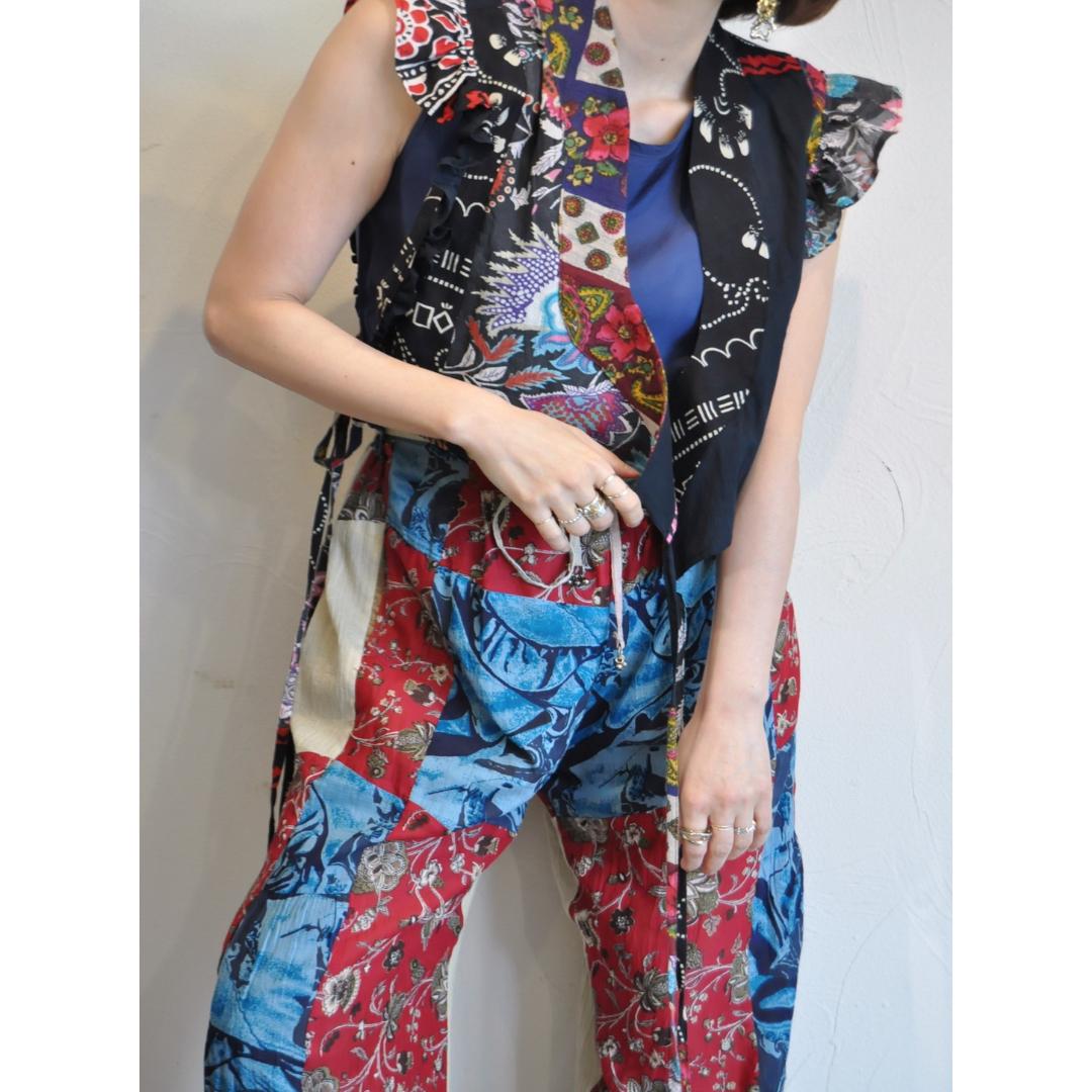 【RehersalL】ethnic frill blouse(dark 1) /【リハーズオール】エスニックフリルブラウス(ダーク1)