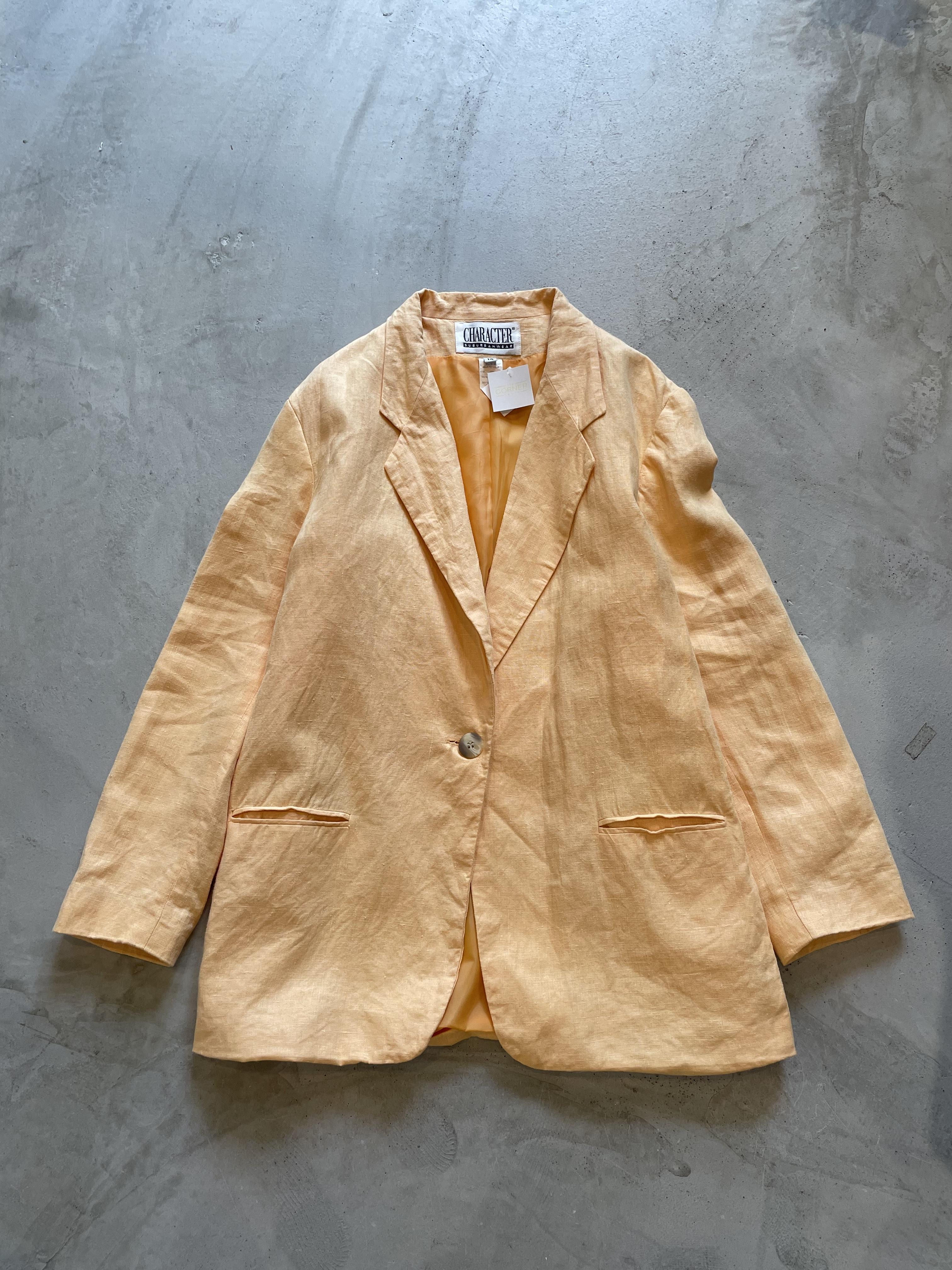 """CHARACTER"" vintage linen jacket"