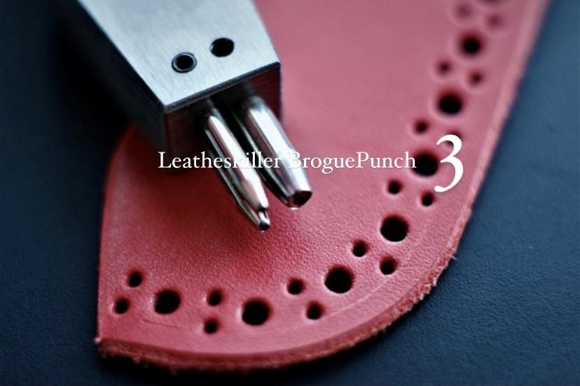 Leatheskiller Brogue Punch  3穴 これさえあれば作品が見違える