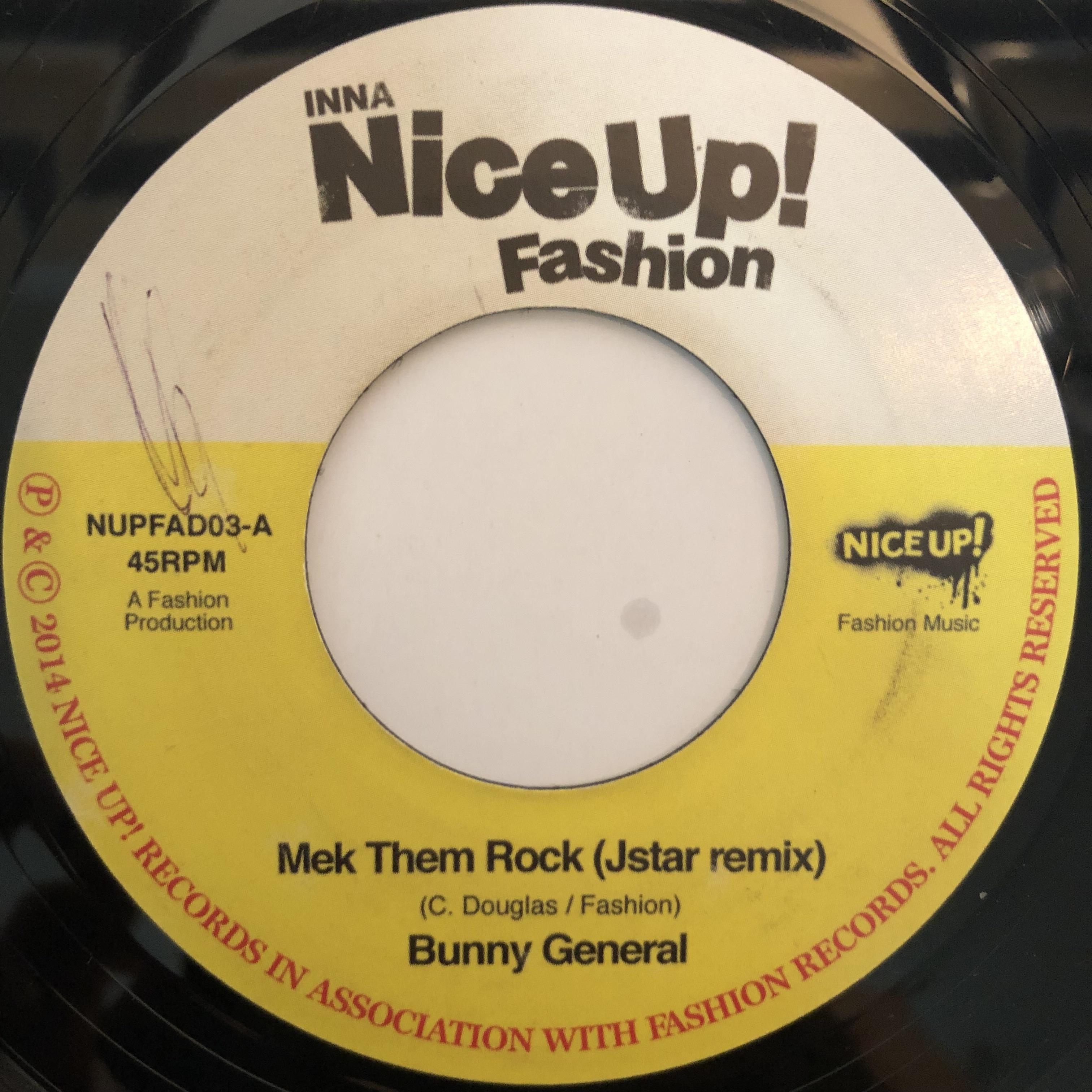 Bunny General(バニージェネラル) - Mek Them Rock (Jstar Remix)【7-20276】