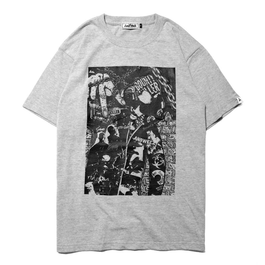 "AnSWeR clothes ""BOUNTY KILLER"" S/S Tee [MIX GRAY]"