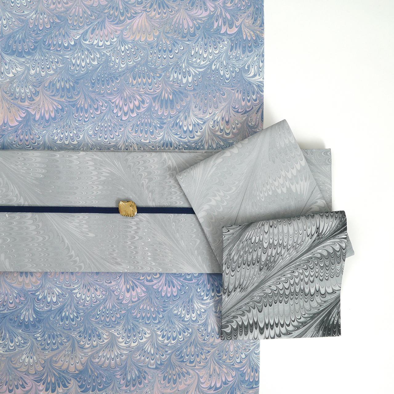 半巾帯 [ 薄墨色 × 薄黒 ]