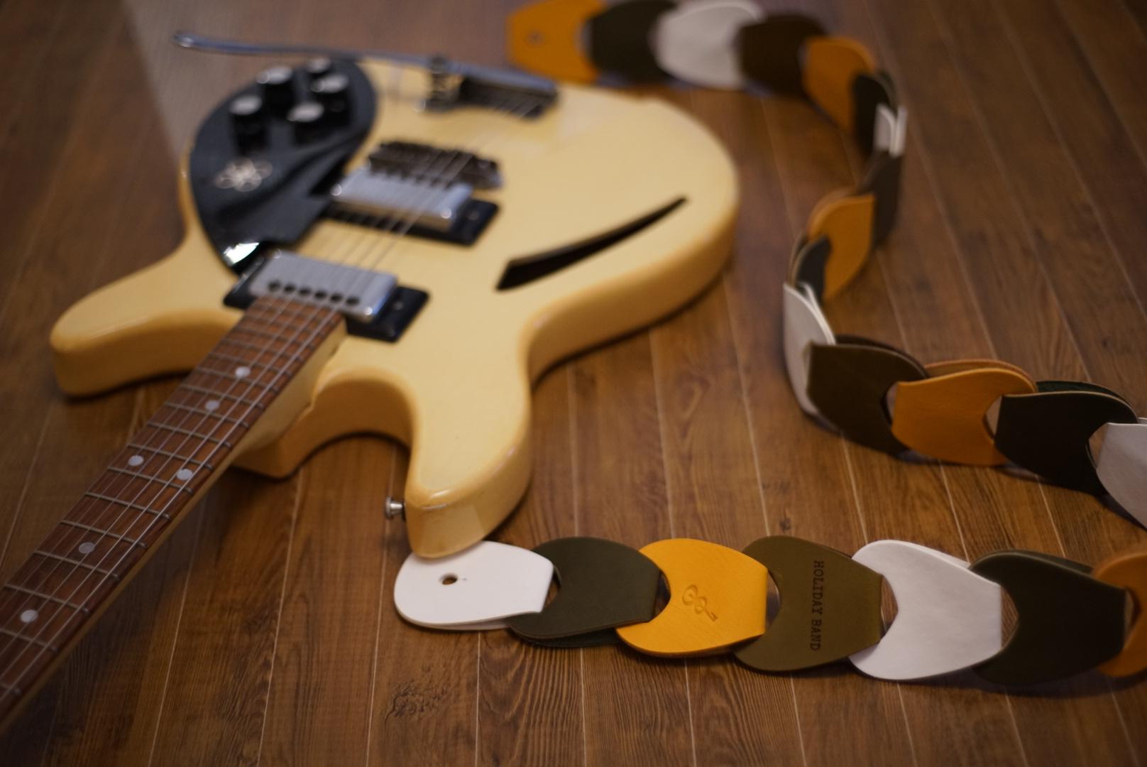 カスタムギターストラップfolklore/HOLIDAY BAND ver.+15cm