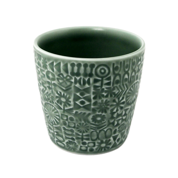 BIRDS' WORDS Patterned Cup squall gray