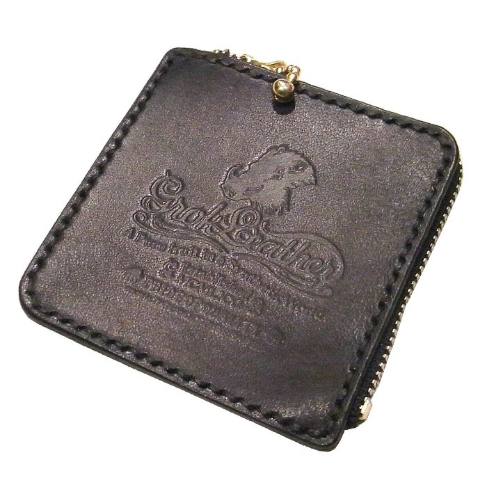 GROK LEATHER(グロックレザー) / ZIP COIN CASE(NAVY)(コインケース)
