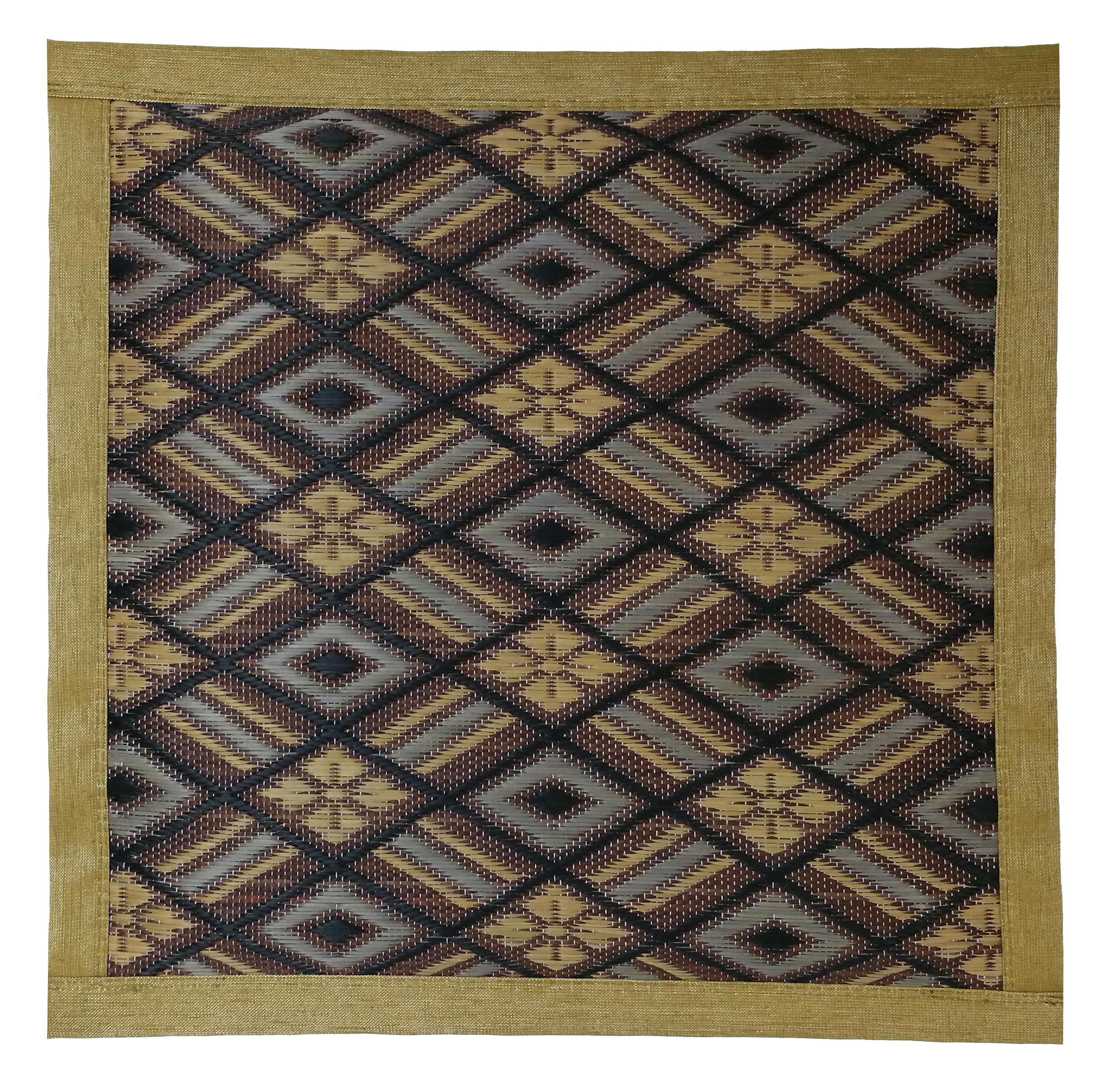【純国産 い草座布団】四重織 45cmx45cmx3cm Japanese Rush Grass Cushion