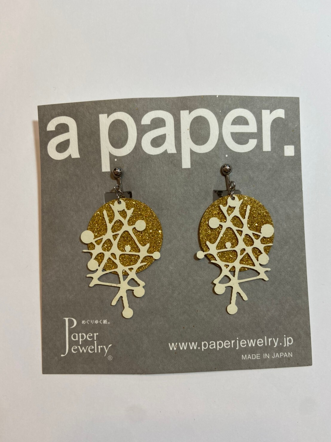 【Paper Jewely】ギンガ/イヤリング