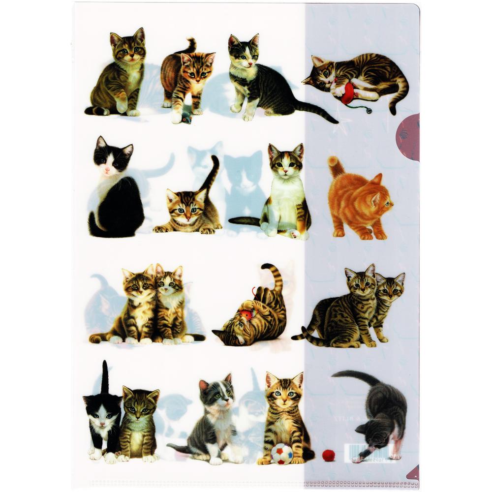 猫クリアファイル(フランシャンの子猫A4)
