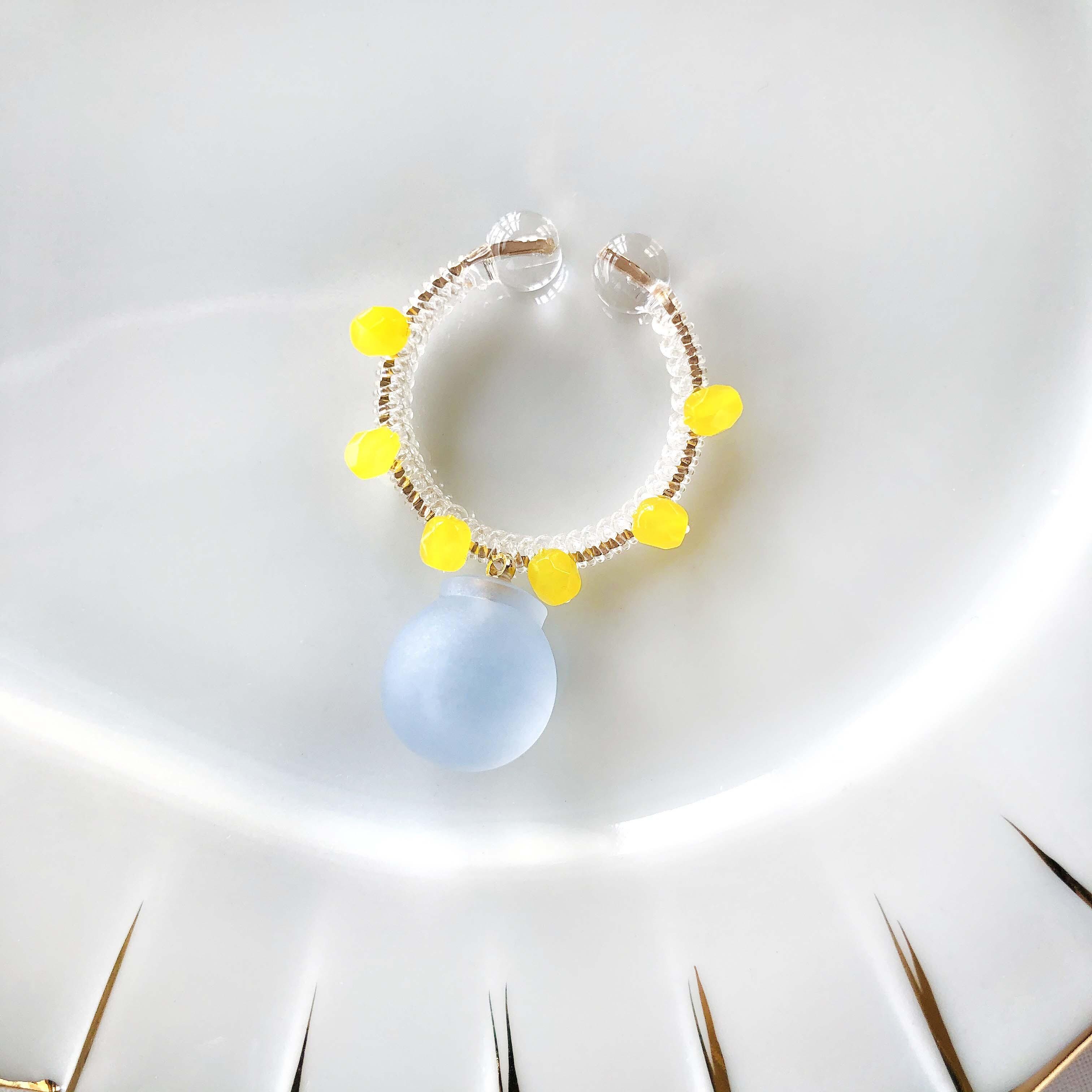 candy cuff【GD】alice blue×レモンガラス