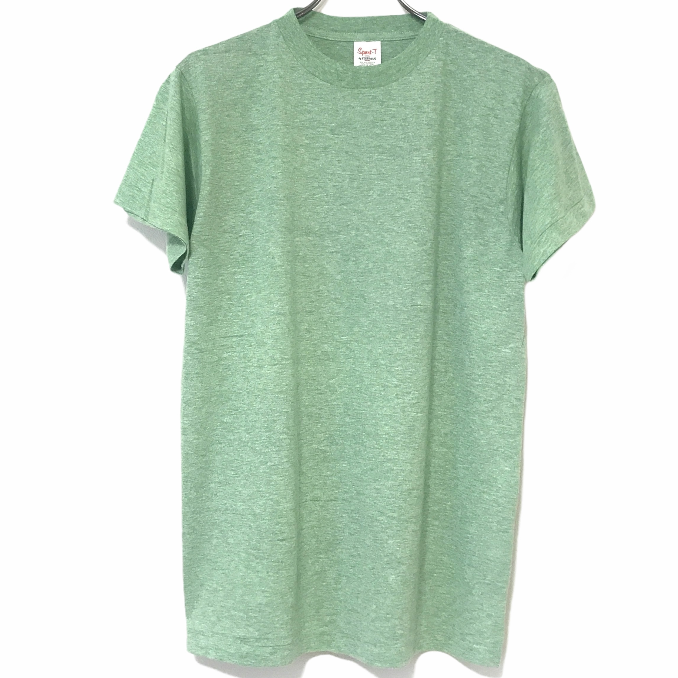 Dead Stock!70's Sport-T by STEDMAN T-shirt made in USA Green