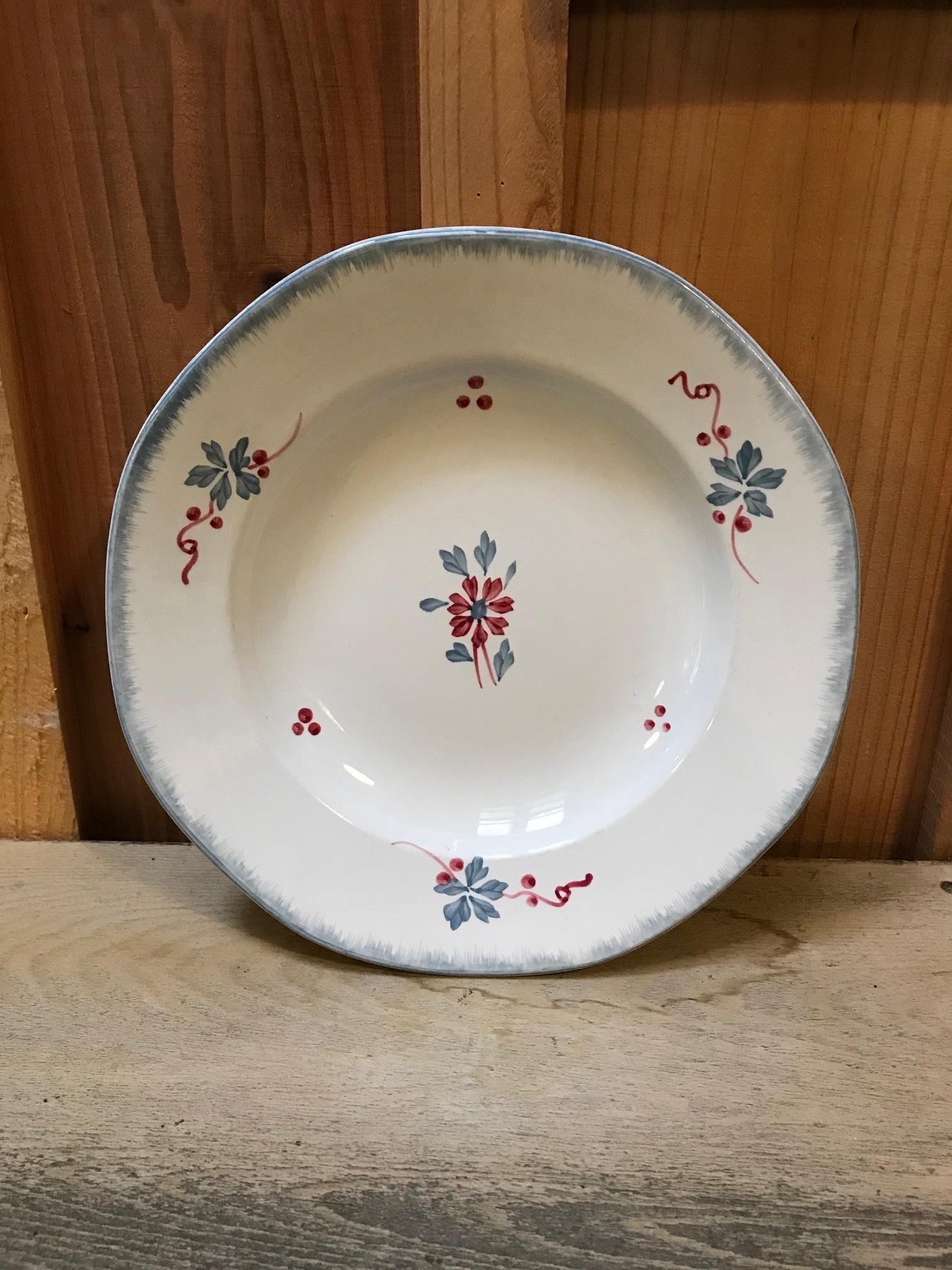 1930年代 フランスアンティーク 花柄 プレート 深皿 C