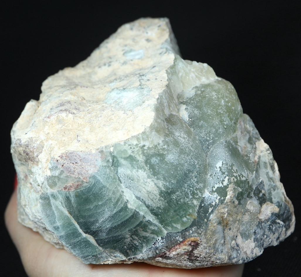 特大!自主採掘!カリフォルニア産 フローライト 蛍石 原石 1465g  FL136 鉱物 天然石 パワーストーン