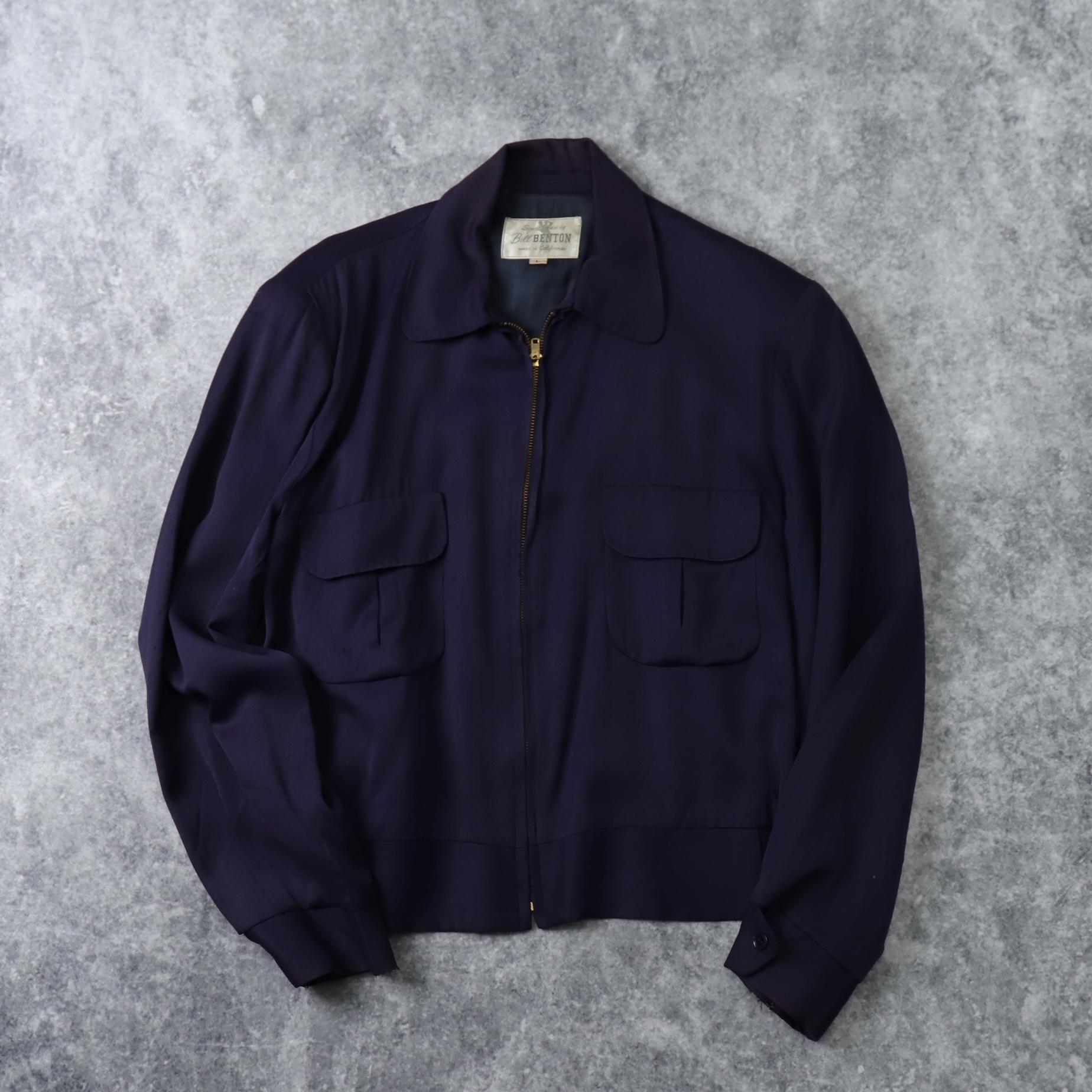 50s ''Bill BENTON'' Gabardine Jacket 50年代 ギャバジャン ギャバジン ロカビリー ギャバジンジャケット A651