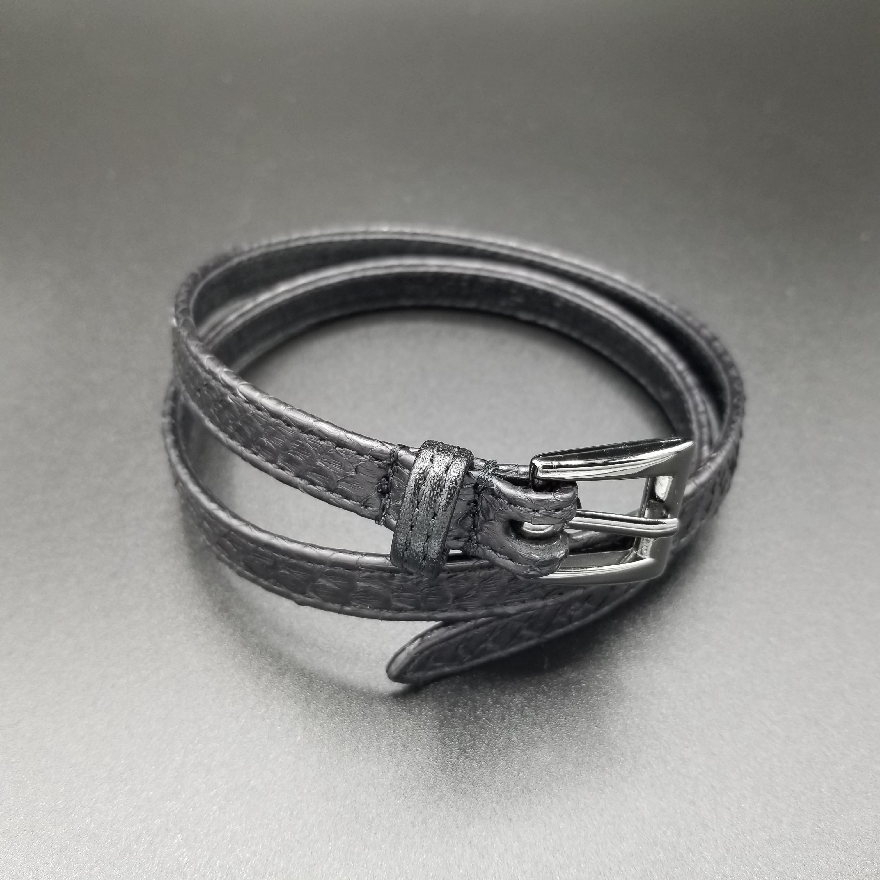 Long Smooth Bracelet/Diamond Python《BLACK》