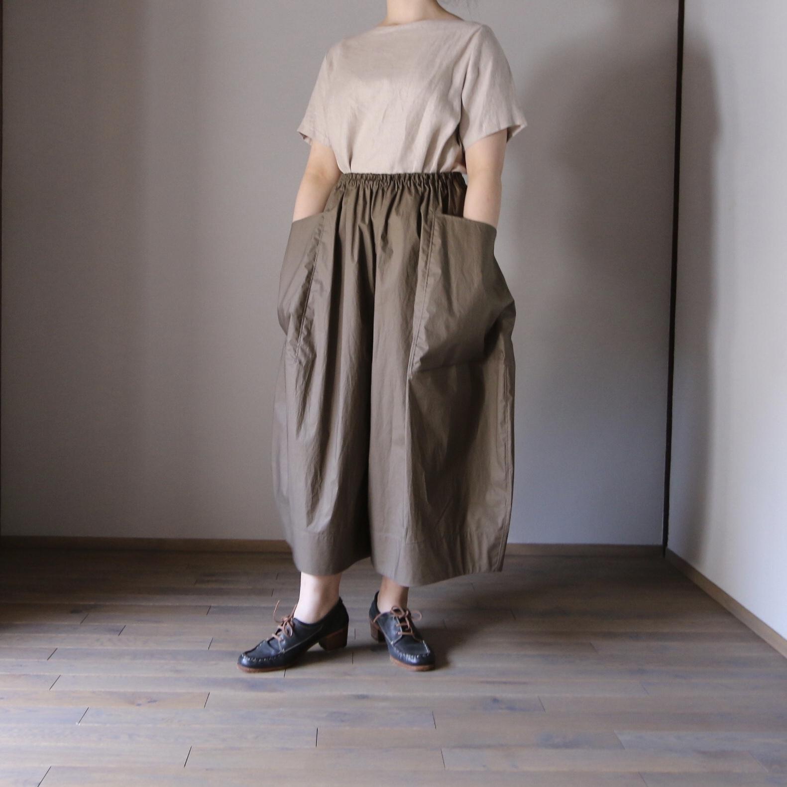 TENNE HANDCRAFTED MODERN/テン・ハンドクラフティッド・モダン Big Pocket Culottes #21-012 KHAKI
