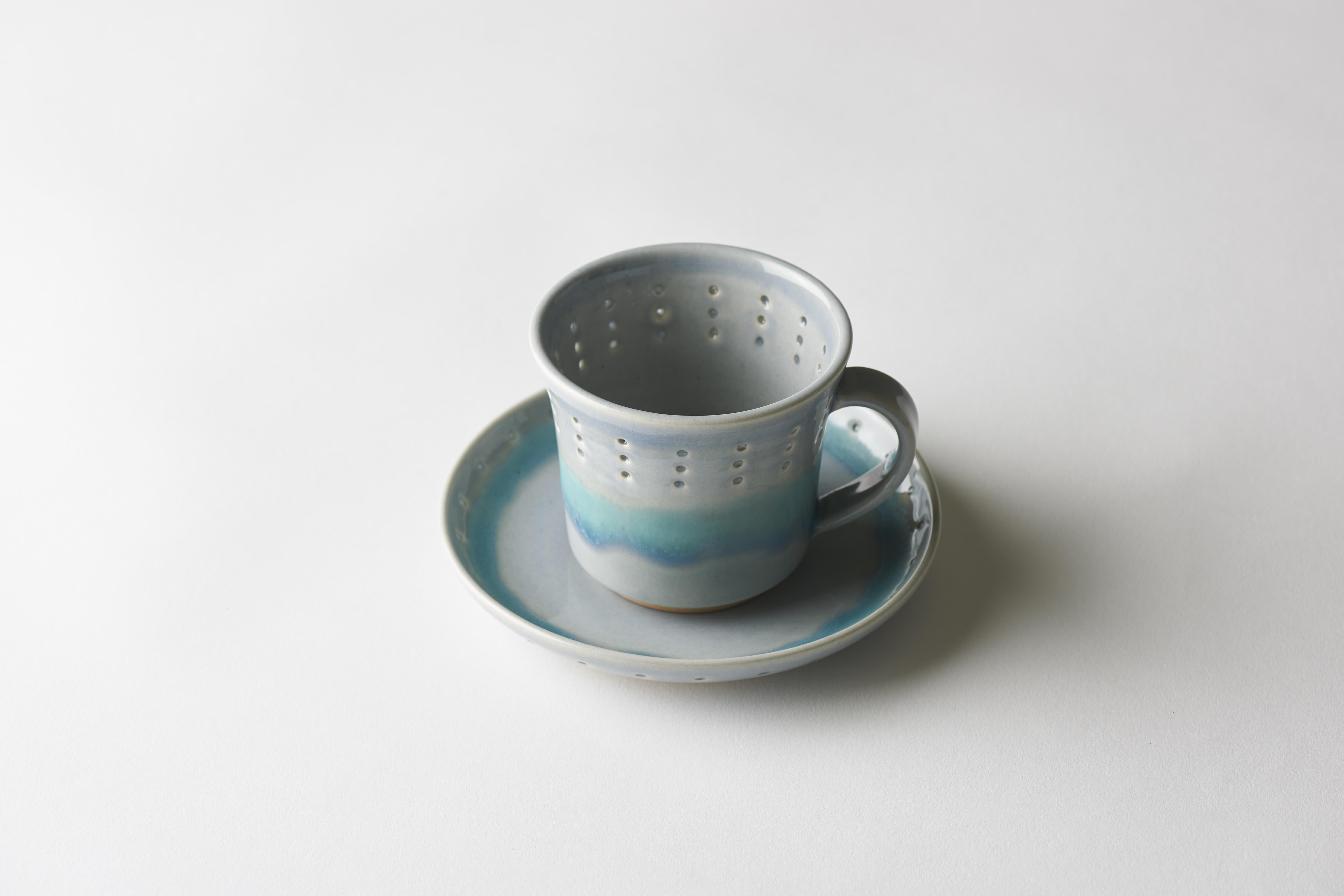 青蛍手カップ&ソーサー