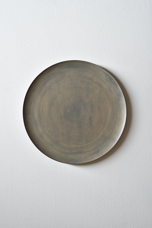 富井貴志|白漆丸皿 270 ①