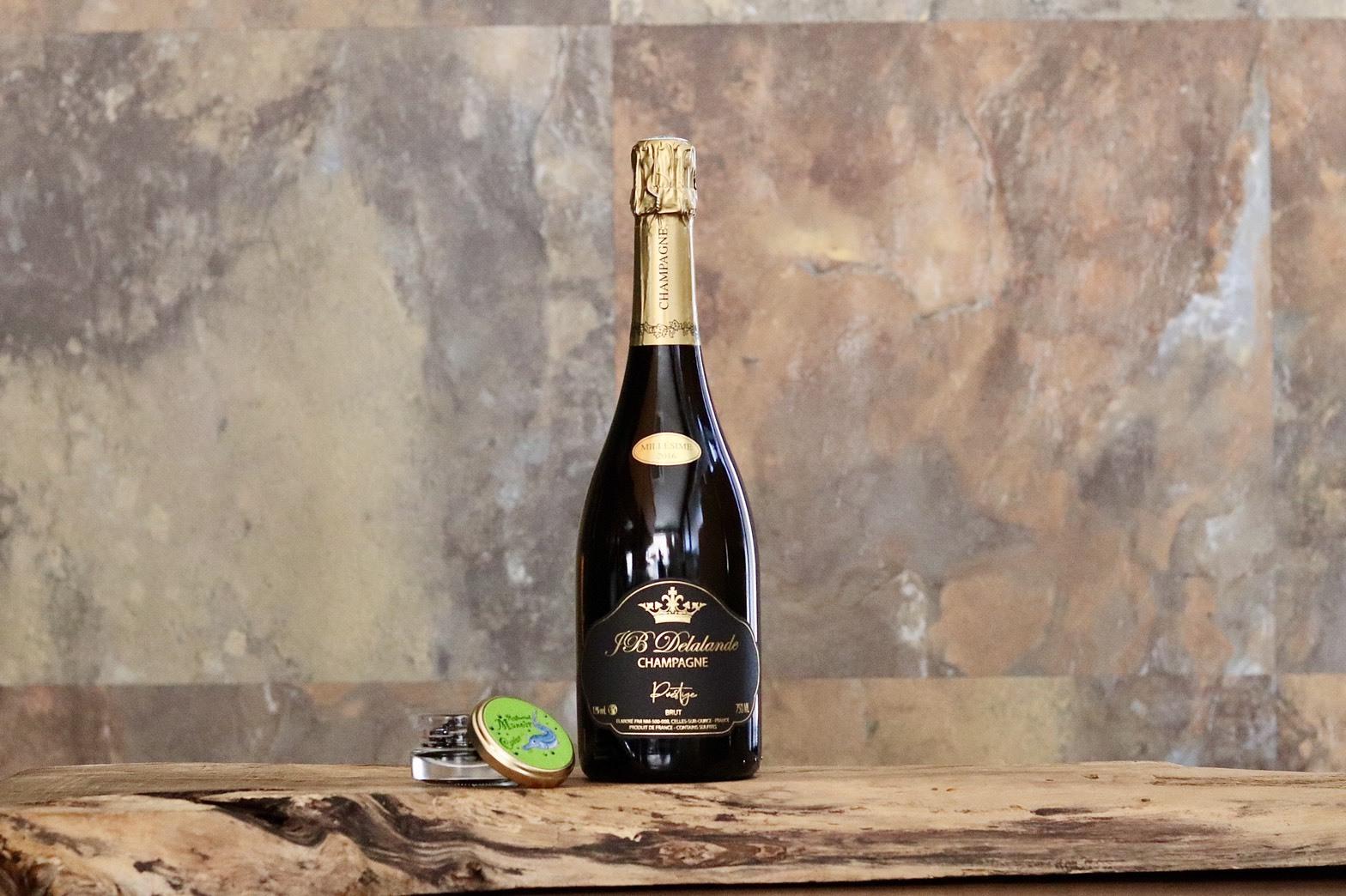 【セット割引】マノワのオリジナル2016年ヴィンテージシャンパーニュ1本とマノワのオリジナルキャビア15g瓶のセット