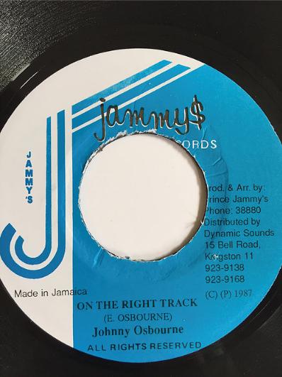 Johnny Osbourne(ジョニーオズボーン) - On The Right Track【7inch】