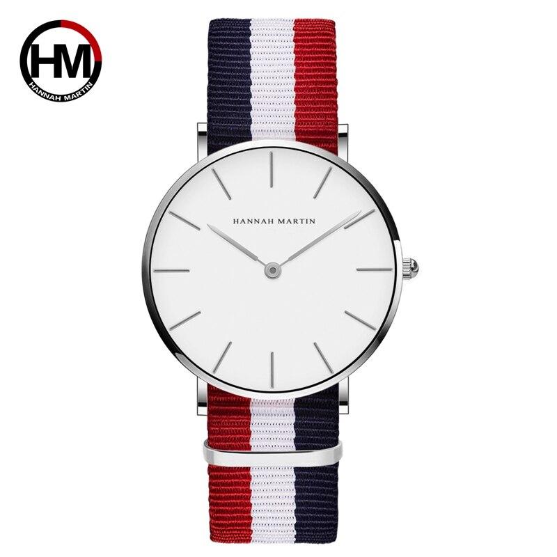 ジャパンクォーツムーブメントアナログファッションカジュアルウォッチナイロンストラップ腕時計ブランド女性用防水腕時計CB36-Y4