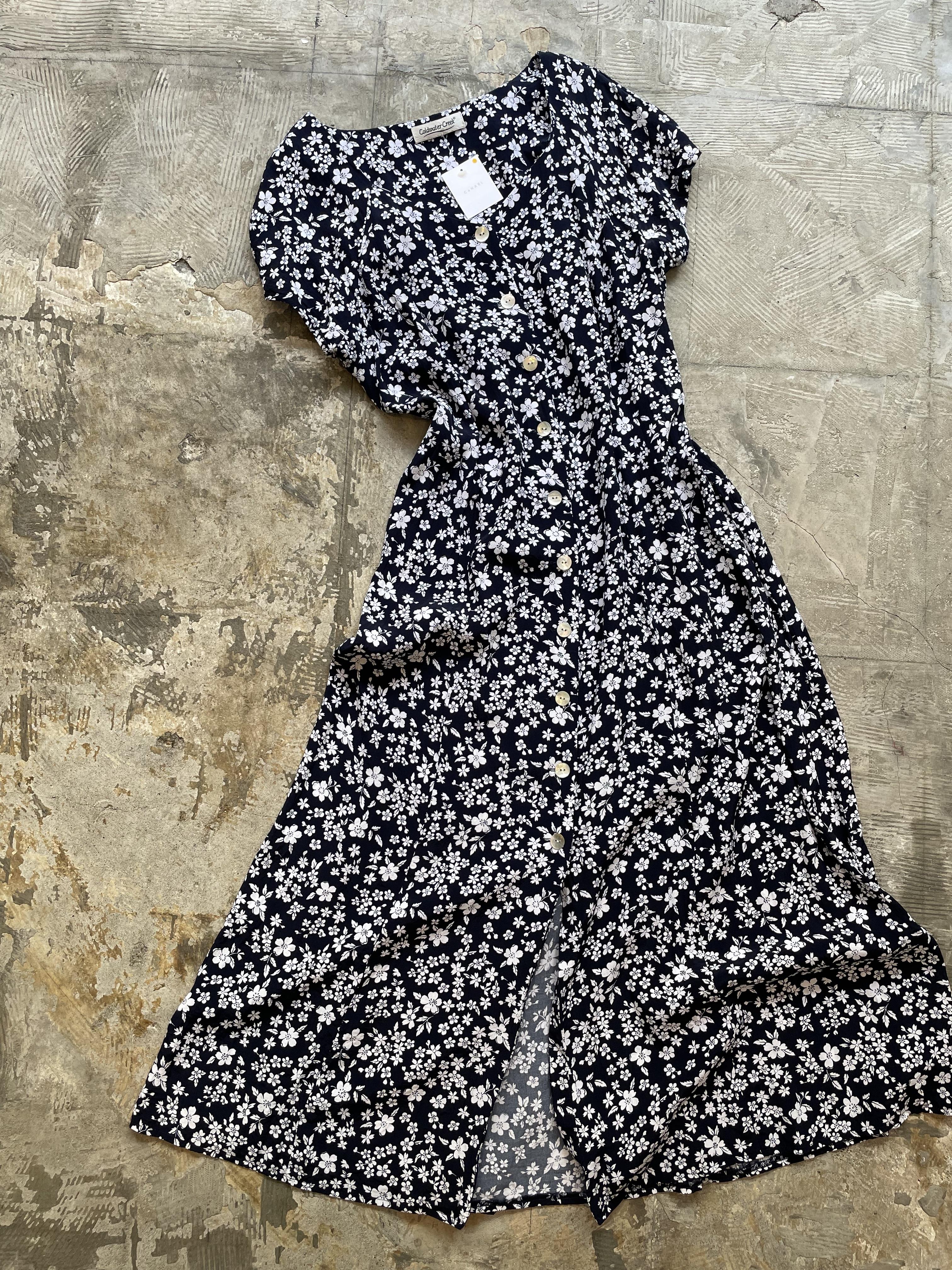 """coldwater creek"" vintage back laceup dress"