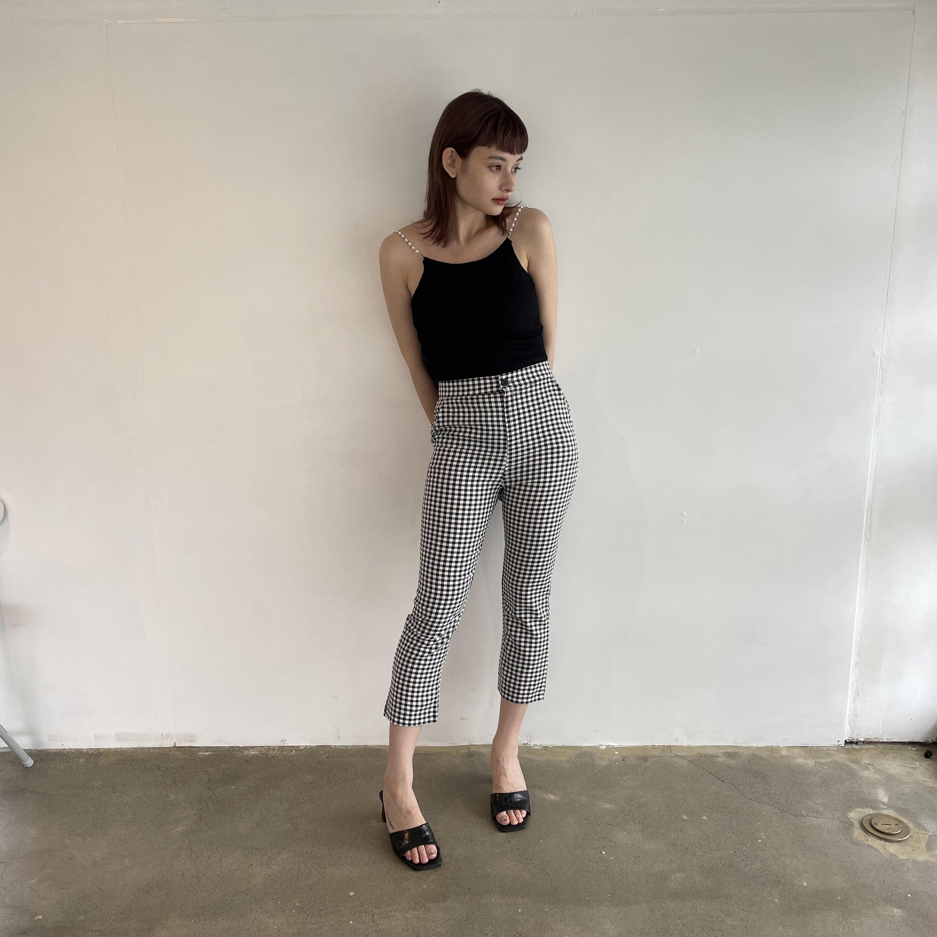 【Belle】ginghamcheck slim pants