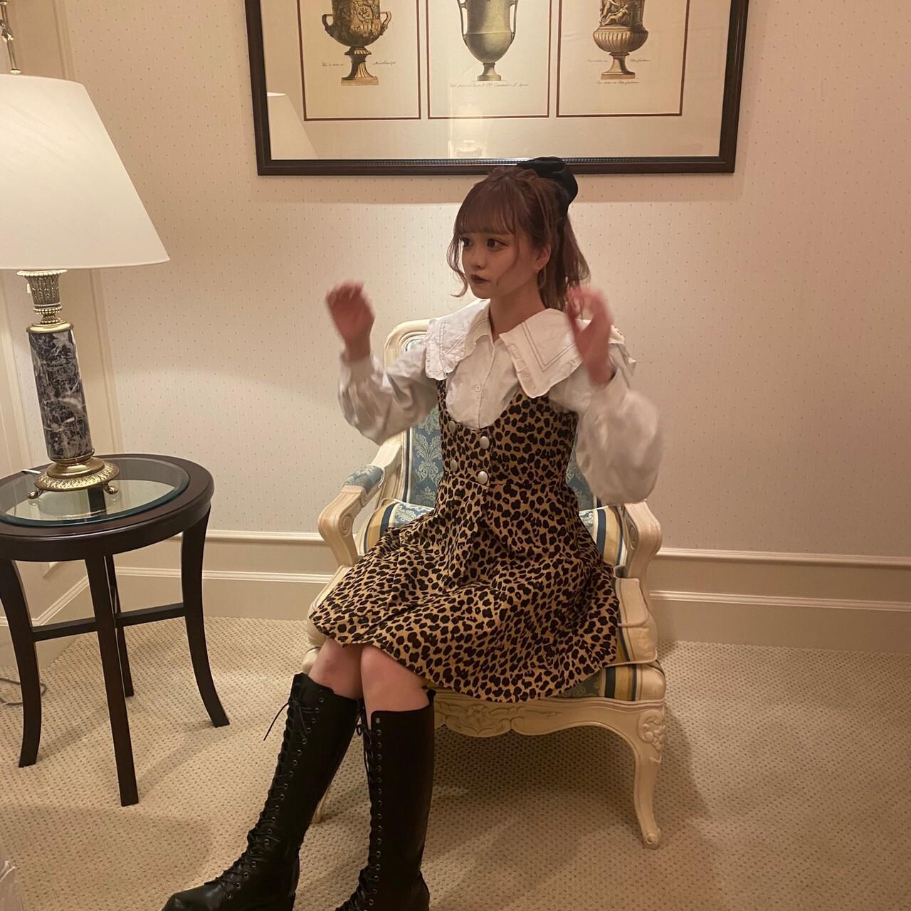 【feellie】leopard salopette onepiece