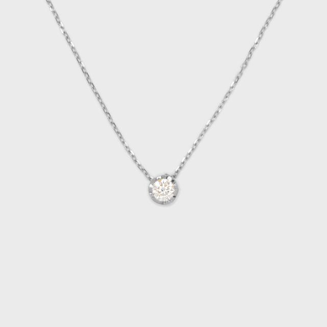 ENUOVE NOTTE Diamond Necklace K18WG(イノーヴェ ノッテ 0.25ct ダイヤモンドネックレス K18ホワイトゴールド スライドアジャスターチェーン)