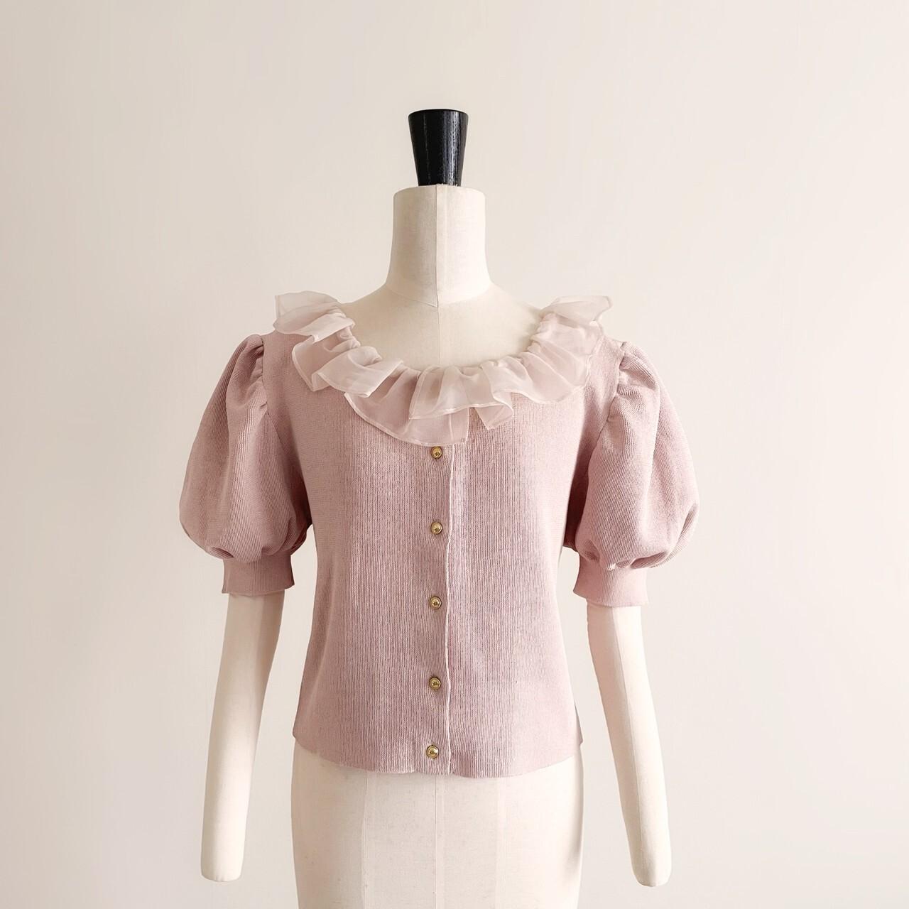 【meltie】original sheer frill summer knit