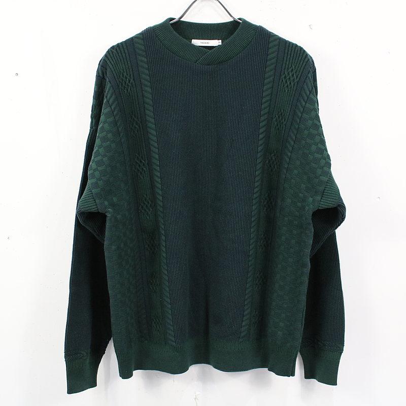 YASHIKI / ヤシキ   2021SS   Shingen Knit シンゲンニット   2   グリーン   メンズ
