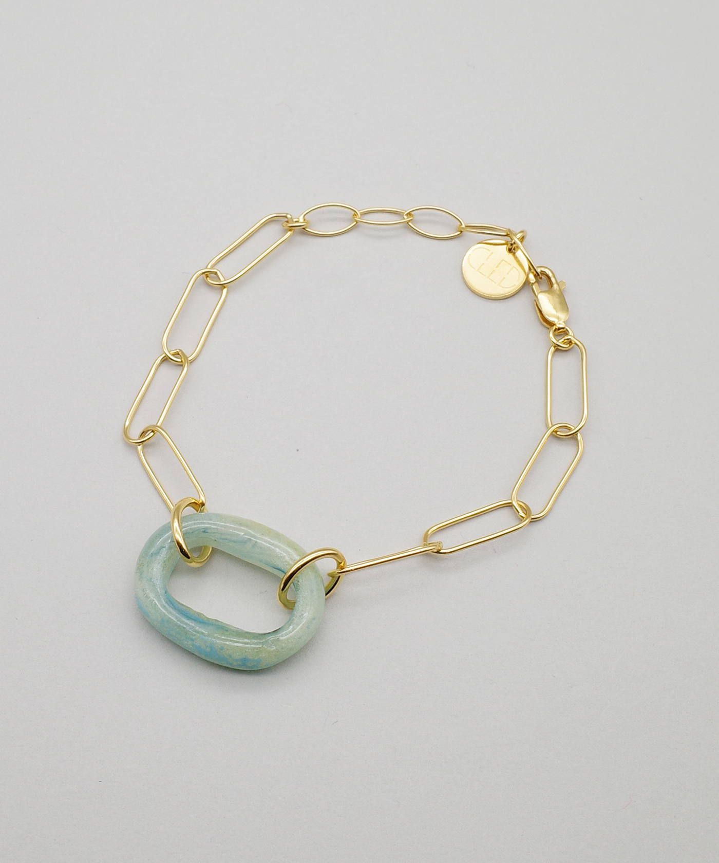 【CLED /クレッド 】The Day Loop Bracelet /  ブレスレット / Gold Vermeil×Blue Shade