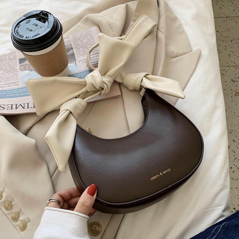 〈カフェシリーズ〉ミルク入りコーヒーリボンミニバッグ