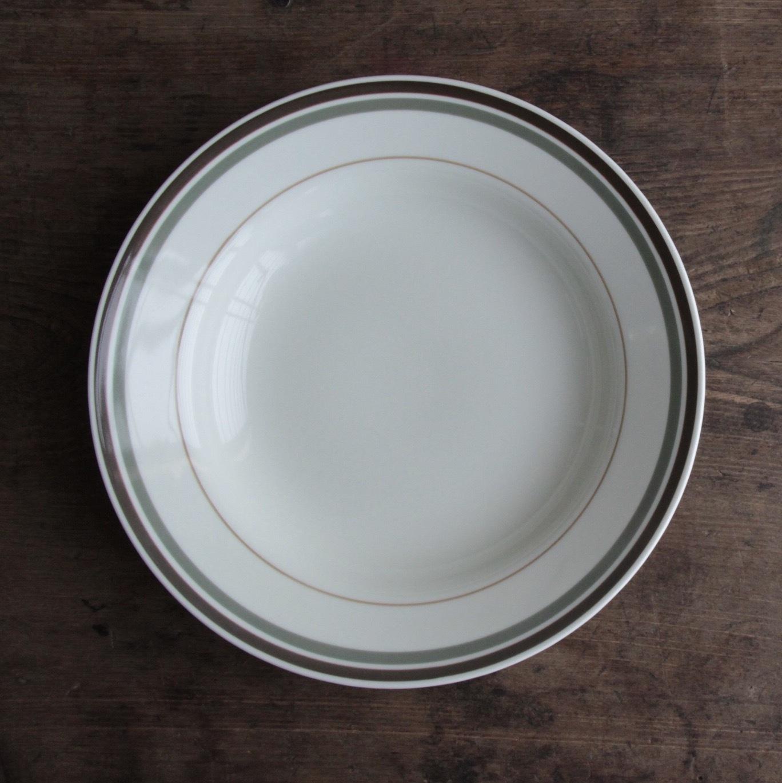 東濃陶器  三本ラインのパスタ皿 在庫5枚