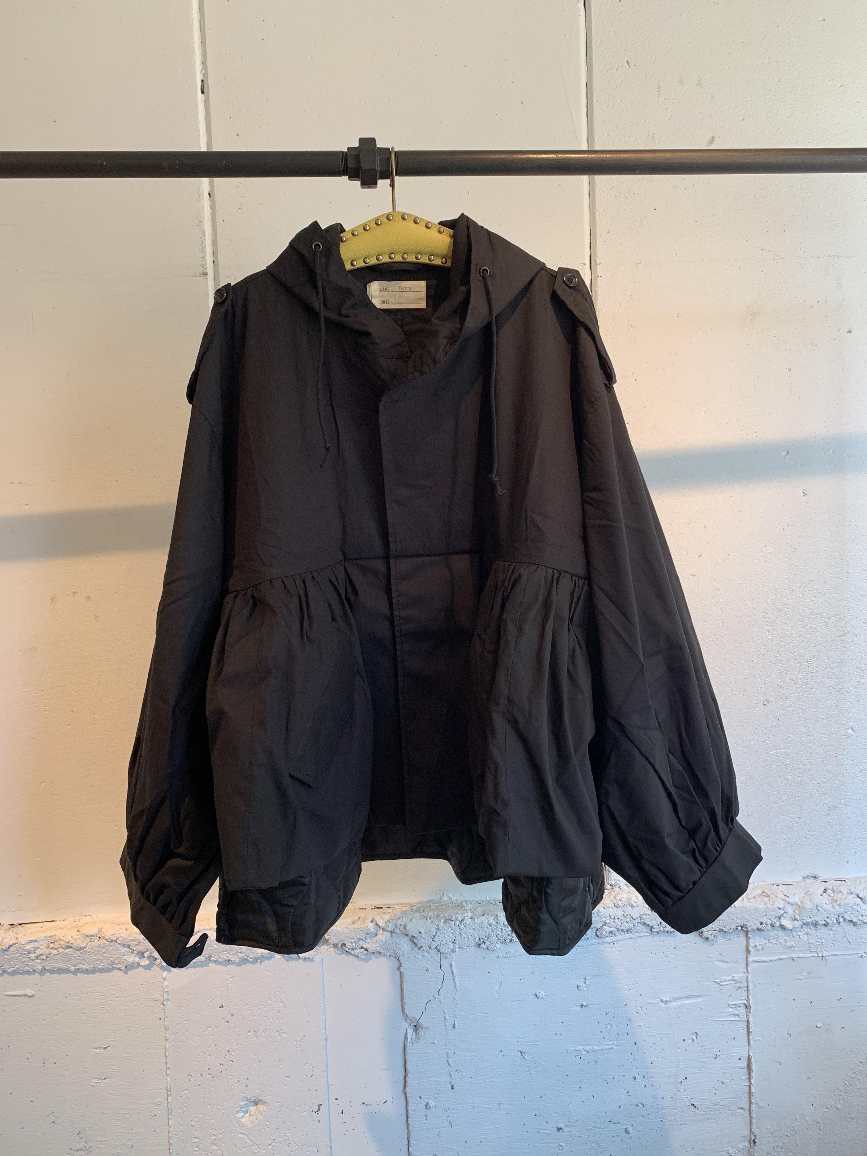 77circa   circa make overlapping hem m-51 coat (black)